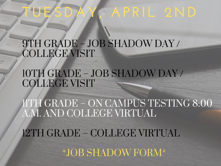 TUESDAY, APRIL 2ND