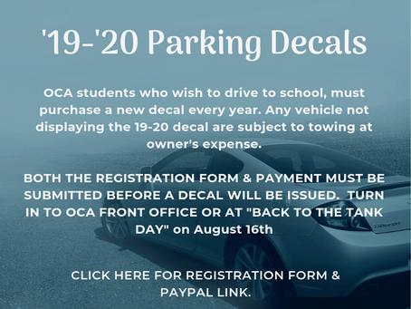 19-20 Parking Decals - buy now