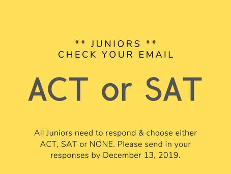 Attention Juniors!
