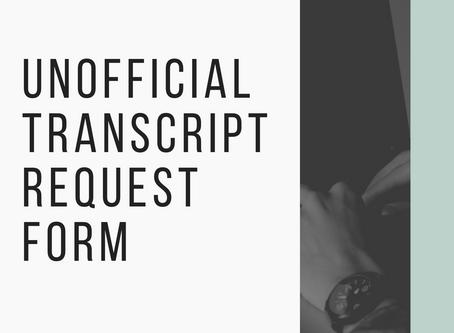 Request Your Unofficial Transcript