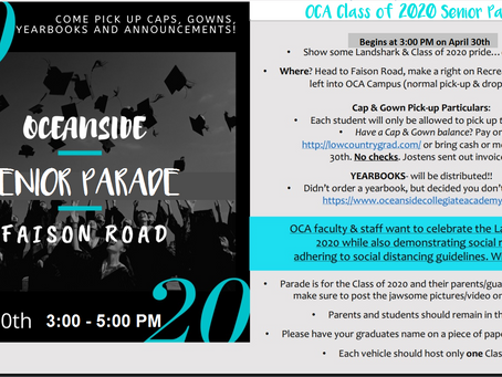 Senior Parade - Cap & Gown Pick Up