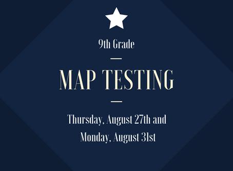MAP Testing - 9th Grade