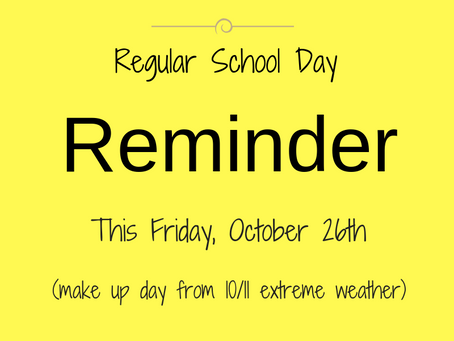 Make Up Day this Friday