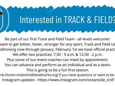 New Track & Field Team