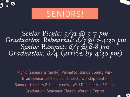 Seniors - Important Dates