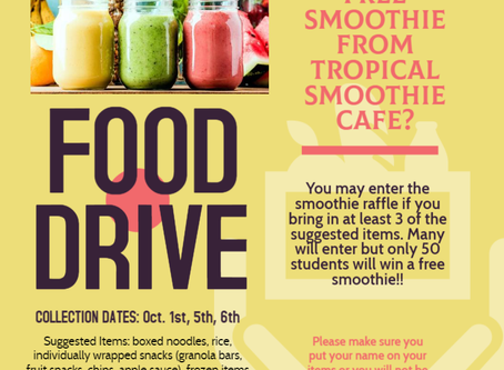 Food Drive - Smoothie Giveaway