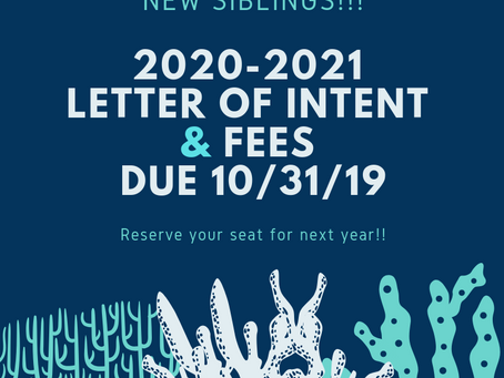 Sharks! 20-21 Fees Due 10/31