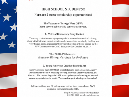 VFW Scholarship Opportunities