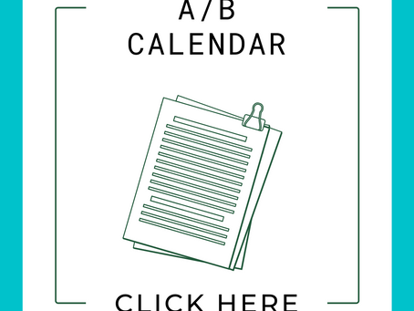 Friday A/B Day Calendar