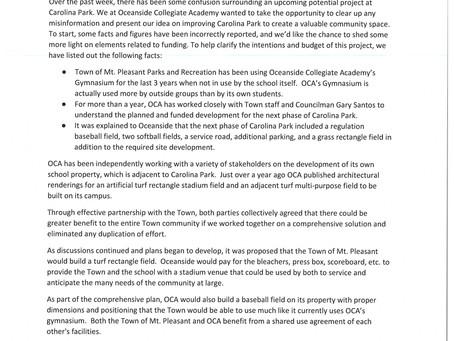 Carolina Park Phase 3 response