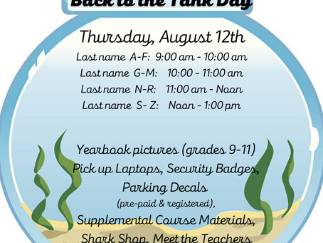 Back to the Tank Day - mandatory for all students
