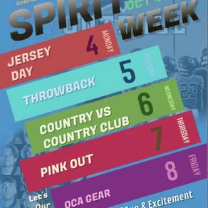 Spirit Week: October 4-8