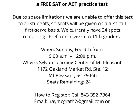 Free ACT/SAT practice - Limited Spots