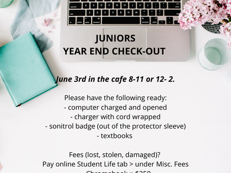 Juniors - Year End Checkout