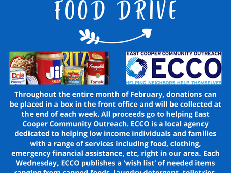 Food Drive - all month long