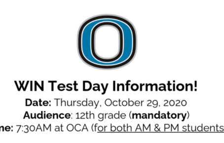 Attention Seniors - Testing Day