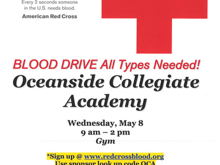 Blood Drive - May 8th