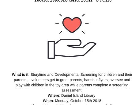 Volunteers Needed 10/15