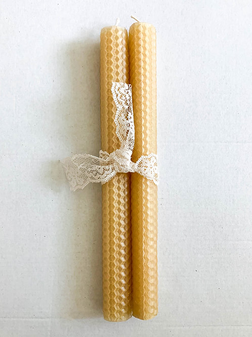 Set of Honeycomb Beeswax Candles