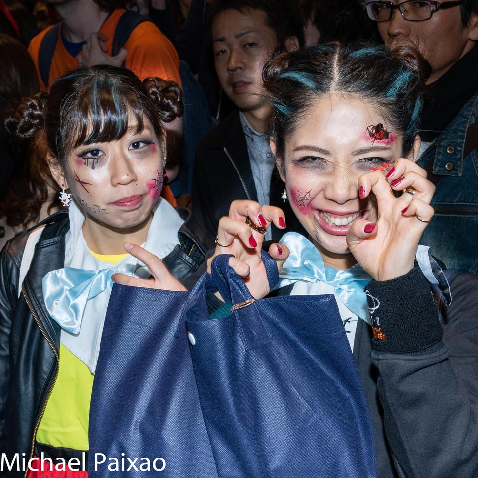 Halloween at Shibuya Crossing in Tokyo