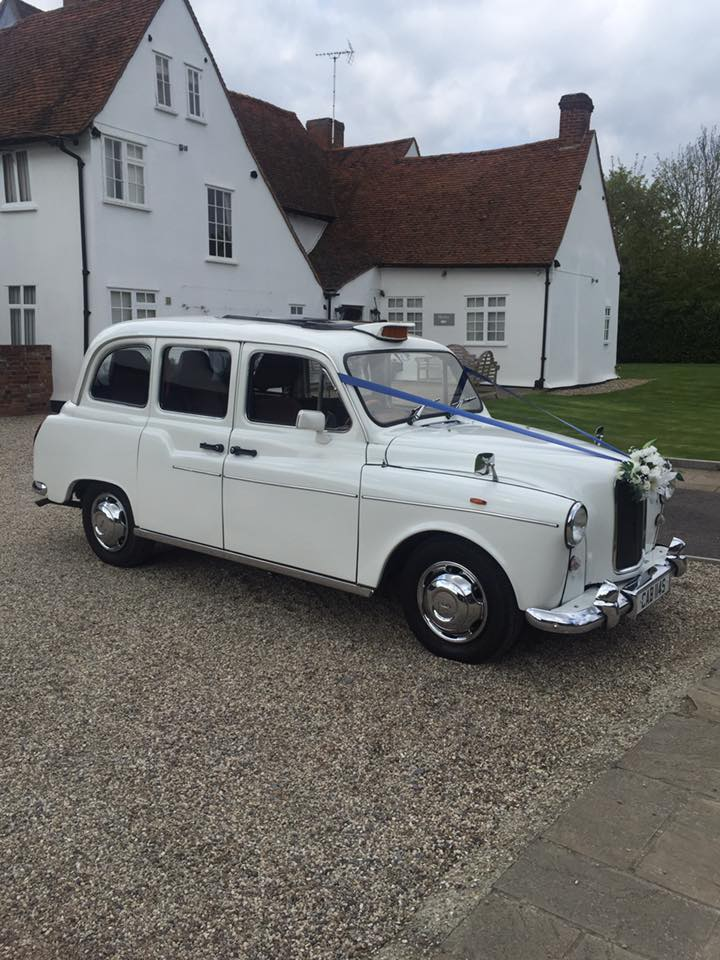 White wedding taxi for hire