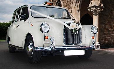 cream Fairway wedding taxi for hire