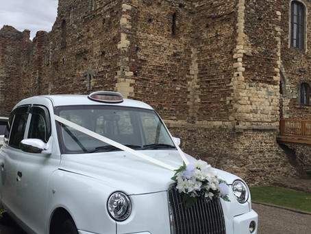 Wedding within romantic castle ruins