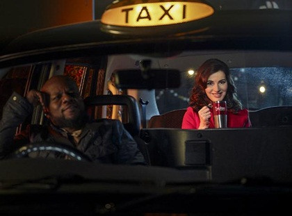 Our Regency taxi stars with Nigella Lawson!