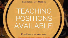 Job Openings: Piano, Cello, Violin and Flute Teachers!