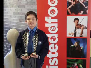 Isiah achieved the 1st prize at the Sydney Catholic School Eisteddfod