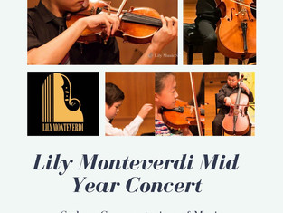 Lily Monteverdi's Mid Year Concert is coming up soon!
