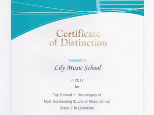 Certificate of Distinction 2 years in a row!