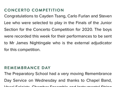 Congratulations to Clancy who won the Trinity Concerto Competition!