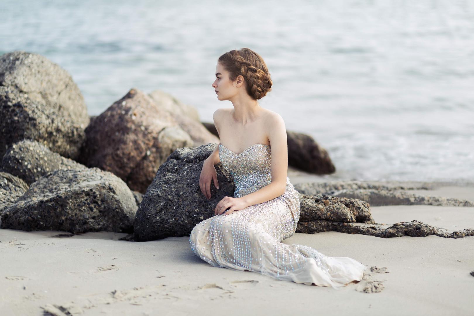 portrætfoto på stranden
