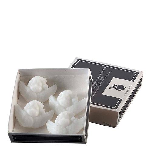 Box of 4 scented wax melts, POUDRE DE RIZ