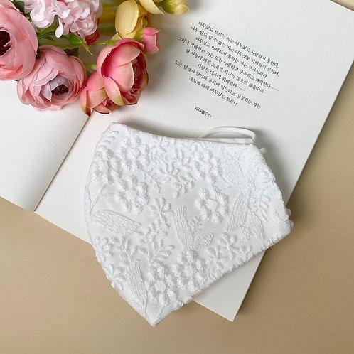 Wedding mask Pure white