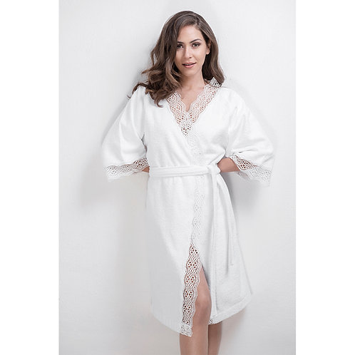 Luxury Bathrobe Daisy - White