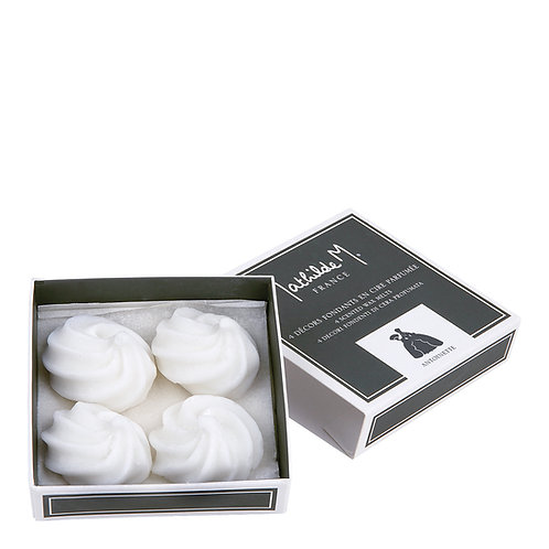 Box of 4 scented wax melts, Antoinette