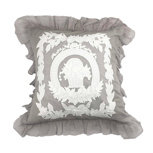 Cushion Cover Porcelaine Colombe (45x45)