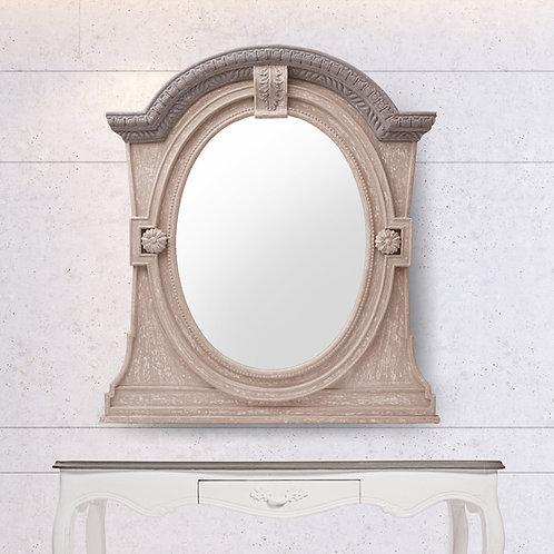 Wooden Gothic mirror