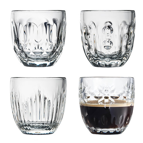 TROQUET Assorted Espresso Cup Set (4pcs)