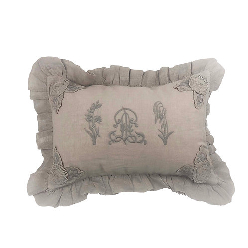 Cushion Cover Herbes Folles Colombe (30x45)