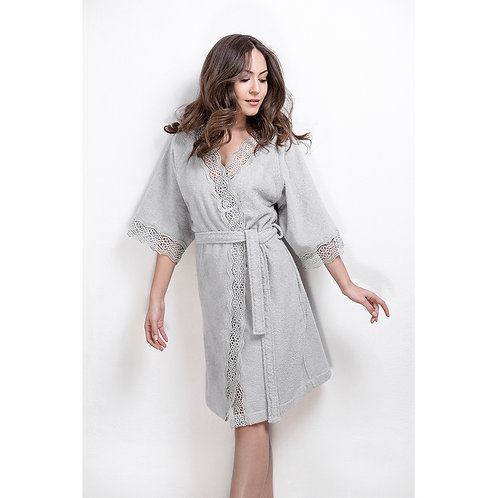 Luxury Bathrobe Daisy - Grey