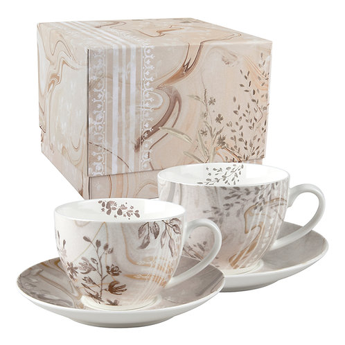 Set 2 tea cups with saucers Palazzo Bello