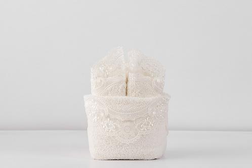 Hand Towel Set INCI(4pcs Towel + Sac) Cream