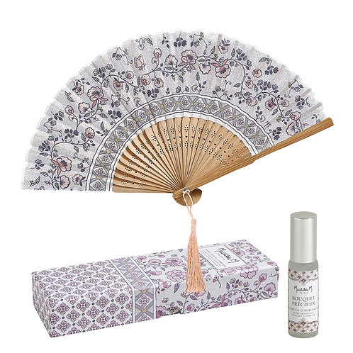 Giftset Hand fan to Paradis Fleuri - Bouquet Préc
