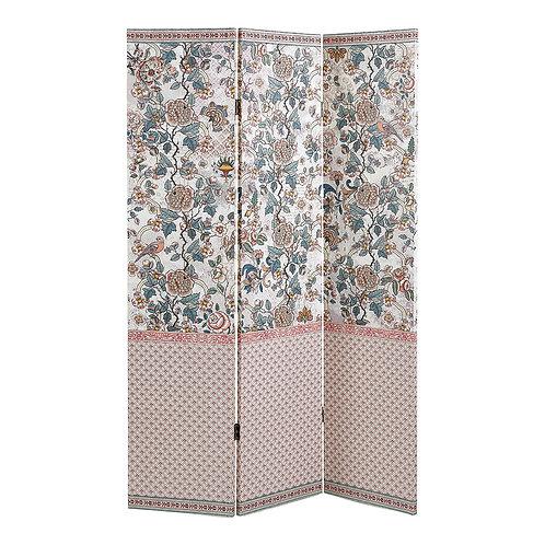 Room divider 3 panels Paradis Fleuri