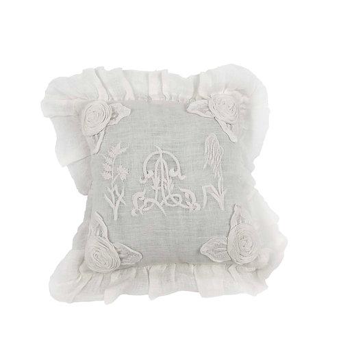 Mini Cushion Herbes Folles Blanc (25x25)