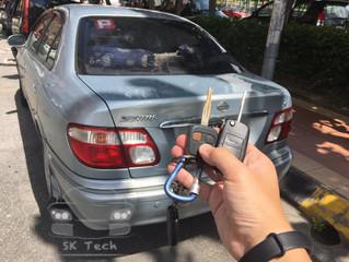 Nissan Sentra year 2005, add new flip key with 4C transponder.