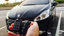 Peugeot 208 year 2013 add new flip key remote & immobiliser